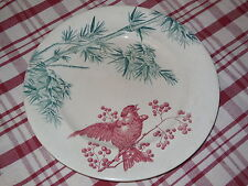 Antique PLATE from the LONGWY pottery FRANCE - 1890's - BIRDS / nr.6