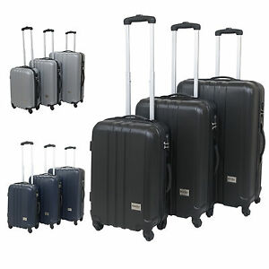 HARD SHELL SUITCASE TROLLEY LUGGAGE TRAVEL CABIN BAG SMALL MEDIUM ...