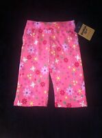 Oshkosh 6 Months Baby Girl Pink Floral Cotton Pants Bottoms Fall Winter