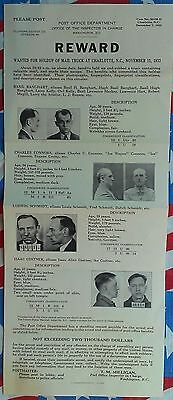 Few Exist Elegant And Graceful Al Capone/roger Touhy One Of The Rarest Mafia Fbi Wanted Posters