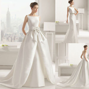 Mermaid White Wedding Dress