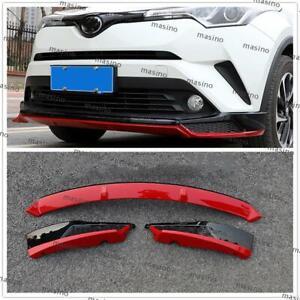 For-2018-2019-Toyota-C-HR-CHR-Front-Bumper-Surround-Molding-Cover-Trim-3PCS-MA