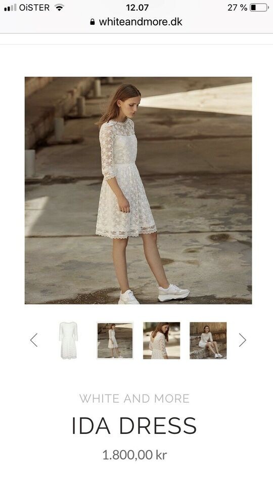 Konfirmationskjole, Ida dress, white and more