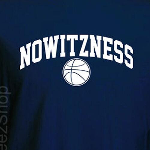 NOWITZNESS DIRK Nowitzki Dallas Mavericks fun Mavs basketball T-shirt