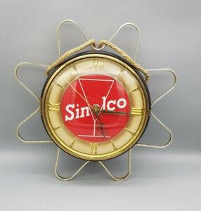 Original-60er-Jahre-Sinalco-Werbeuhr-Design-Objekt-toller-Zustand-alles-Original