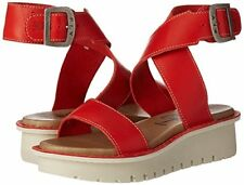 cd97d6f7205 FLY LONDON KIBA465FLY RED LEATHER PLATFORM WEDGE SANDALS UK 6 EU 39 BNIB  RRP £85