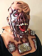 ROBOT Cyborg TERMINATOR Illuminare Occhi Maschera Lattice Costume Di Halloween Horror Maschere