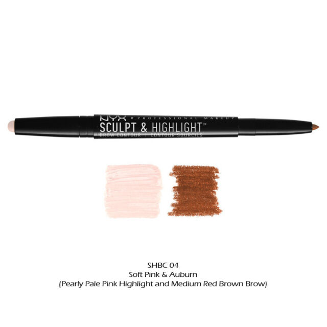 1 Nyx Sculpt Highlight Brow Contour Shbc04 Soft Pink Auburn Ebay