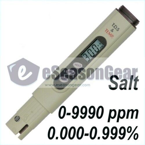 Calibrated @ 3000 ppm NaCl Salt Meter SALT-3000 Pool /& Koi Pond Salinity Tester