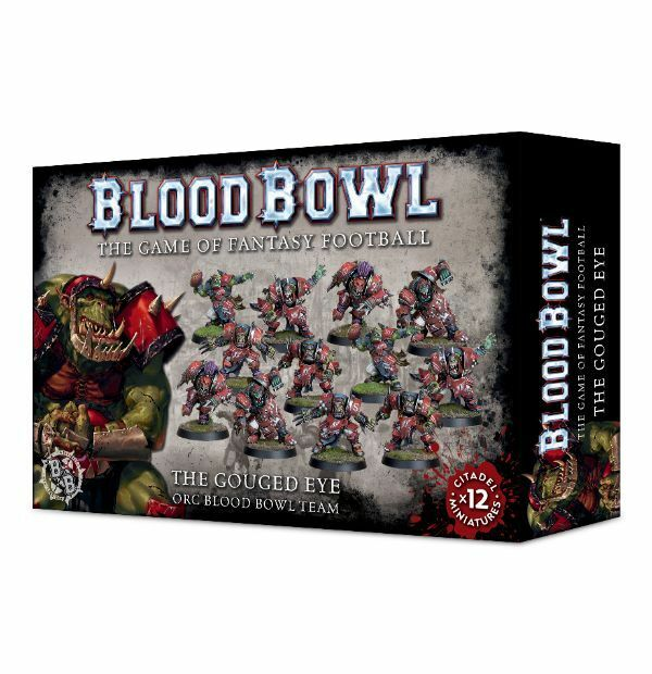 Games Workshop: Blood Bowl The Gouged Eye Orc Team x 12 Players