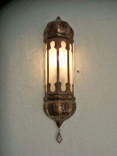 applique murale Marocaine verres dépolis ap3 fer forgé lampe lustre lanterne