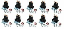 (10) New RELAY SOLENOIDS for Western Fisher Meyers Snowplows 4 Post w/ Hardware
