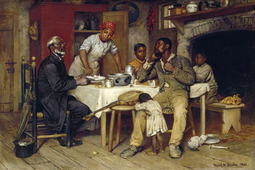 A PASTORAL VISIT FAMILY WELCOMING PASTOR 1881 BY RICHARD NORRIS BROOKE REPRO