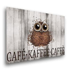 The Coffee Owl Leinwand / Poster XXL Kunstdruck Wandbild Küche ...