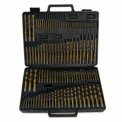 115pc Titanium Drill Bit Set A-Z Case Wood and Steel Coated 1-60 Number Letter
