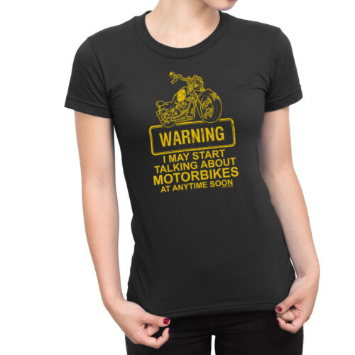 May Start Talking About Bikes Ladies Funny Biker T-Shirt Motorbike Racing Bike