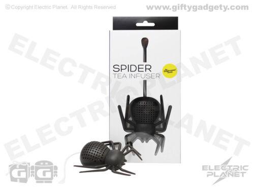 BPA Free qualité alimentaire coffret cadeau Silicone Spider Novelty Loose Leaf Infuseur Thé
