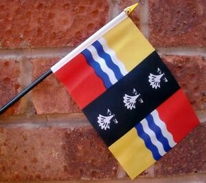 BEDFORDSHIRE-flag-PACK-OF-TEN-SMALL-HAND-WAVING-FLAGS-LUTON-DUNSTABLE