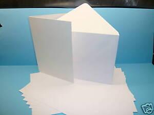 100 x A5 250GSM INKJET PRINTABLE WHITE CARD BLANKS + ENVELOPES