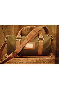 Image Is Loading Rugged Leather Waxed Canvas Duffle Bag Small Gym