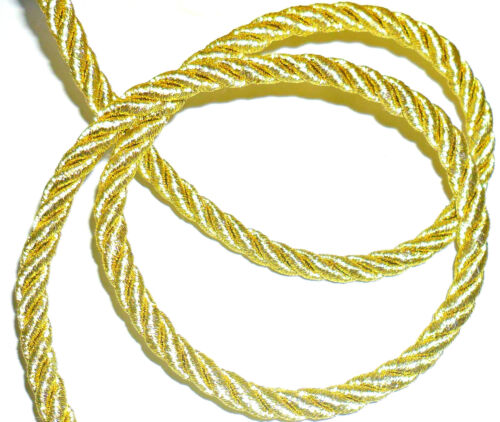 SOLD BTM GOLD//SILVER ART 08-67185.8 STUNNING 8MM METALLIC TWISTED CORD ROPE