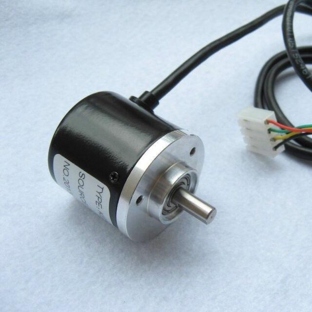 Encoder 400p/r Incremental Rotary Encoder AB Phase Encoder 6mm Shaft W coupling