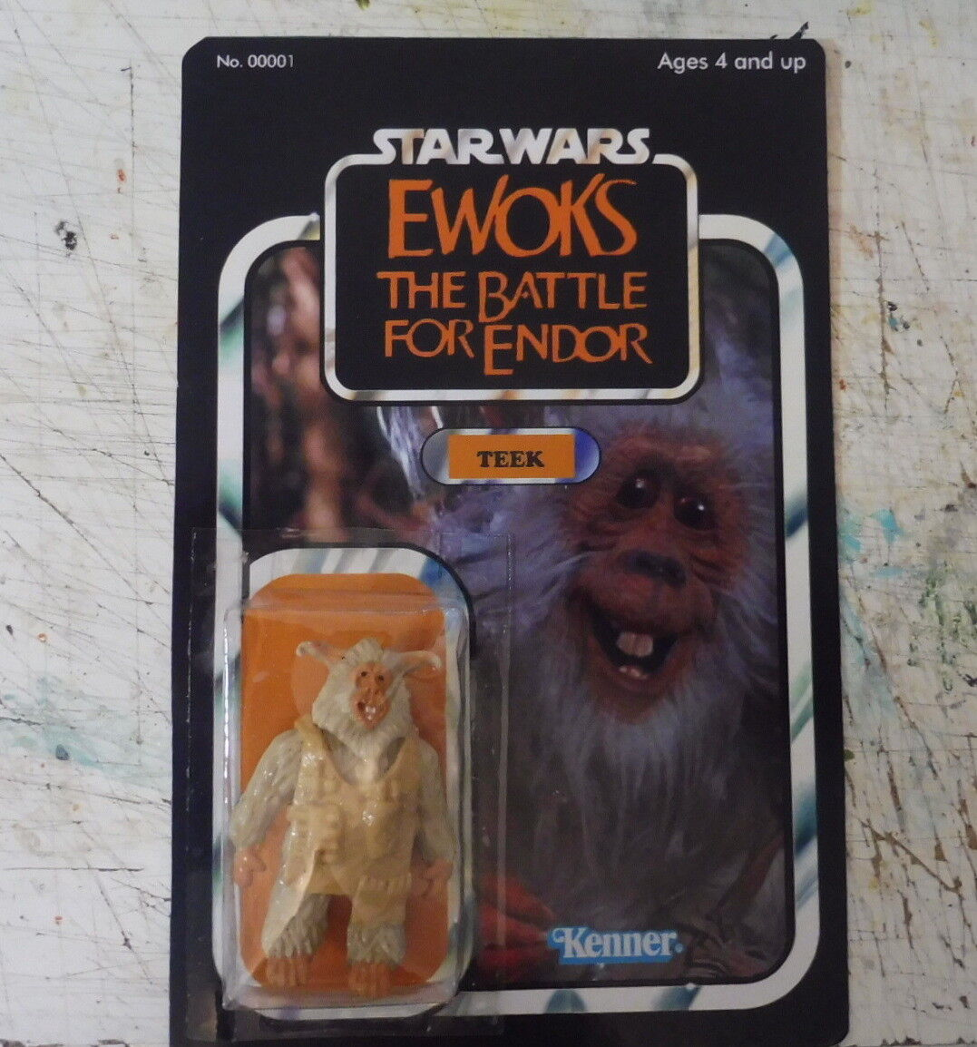 Card EWOKS Teek star wars vintage 1985 1985 1985 Custom kenner Style The Battle for Endor 98acc1