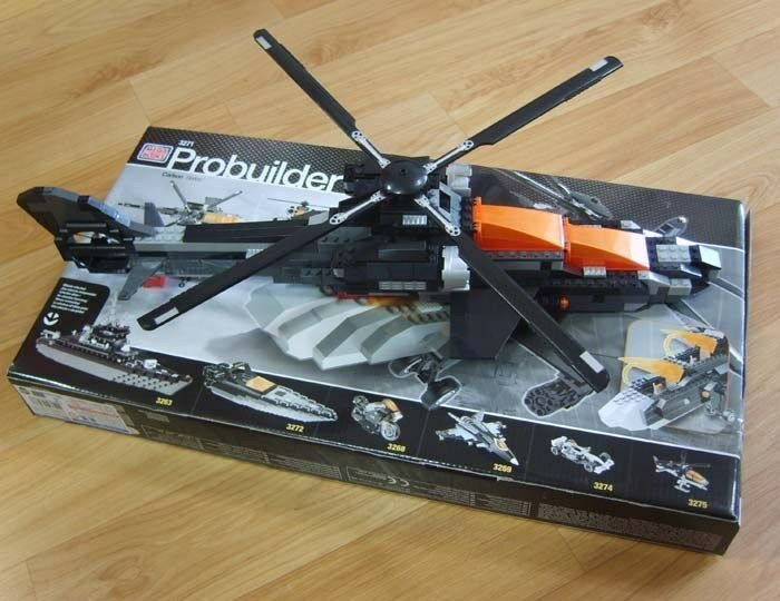Mega Bloks Probuilder  ASSAULT CHOPPER  3271 Carbon Series 420pcs