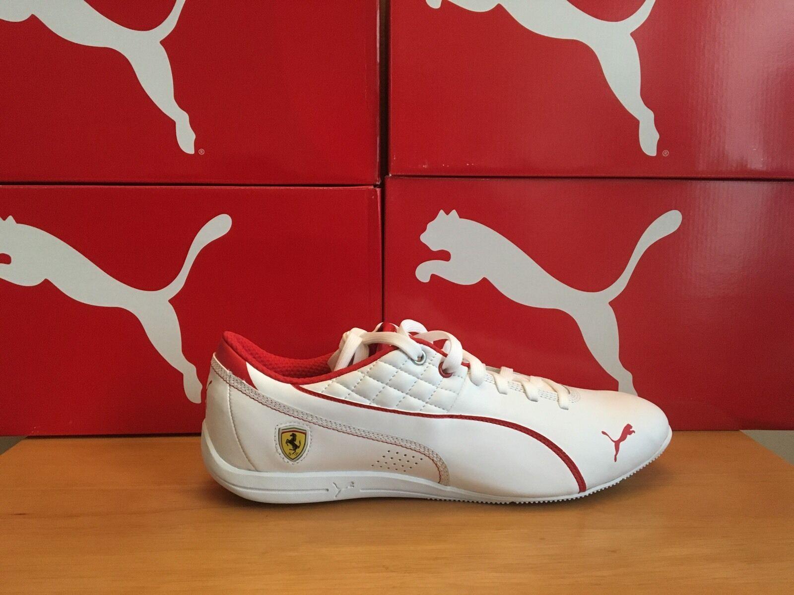 Puma Drift 6 Cat Bianco Ferrari RRP .00 EU 40 | Trasporto Veloce  | Scolaro/Ragazze Scarpa