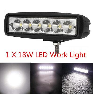 1x SUV Boat Fog Car Work Light Spot 6inch 4WD Offroad 18W Driving Bar Truck LED