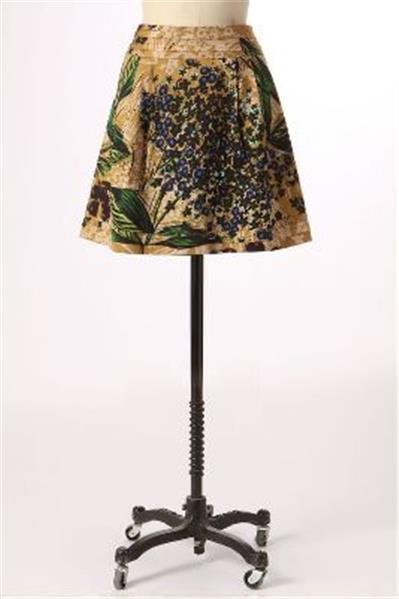 Anthropologie Tiered blueeberry Skirt 8 Edme & Esyllte  NEW hydrangea flower