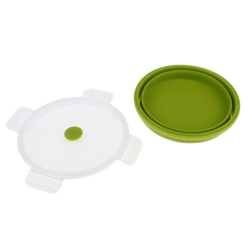 Silicone Collapsible Bowls Food Storage Containers for Travel Camping Hiking
