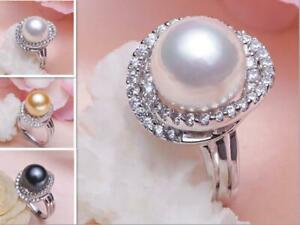 PERFECT-AAA-11-12MM-SOUTH-SEA-GENUINE-PEARL-RING-adjustable-3-color