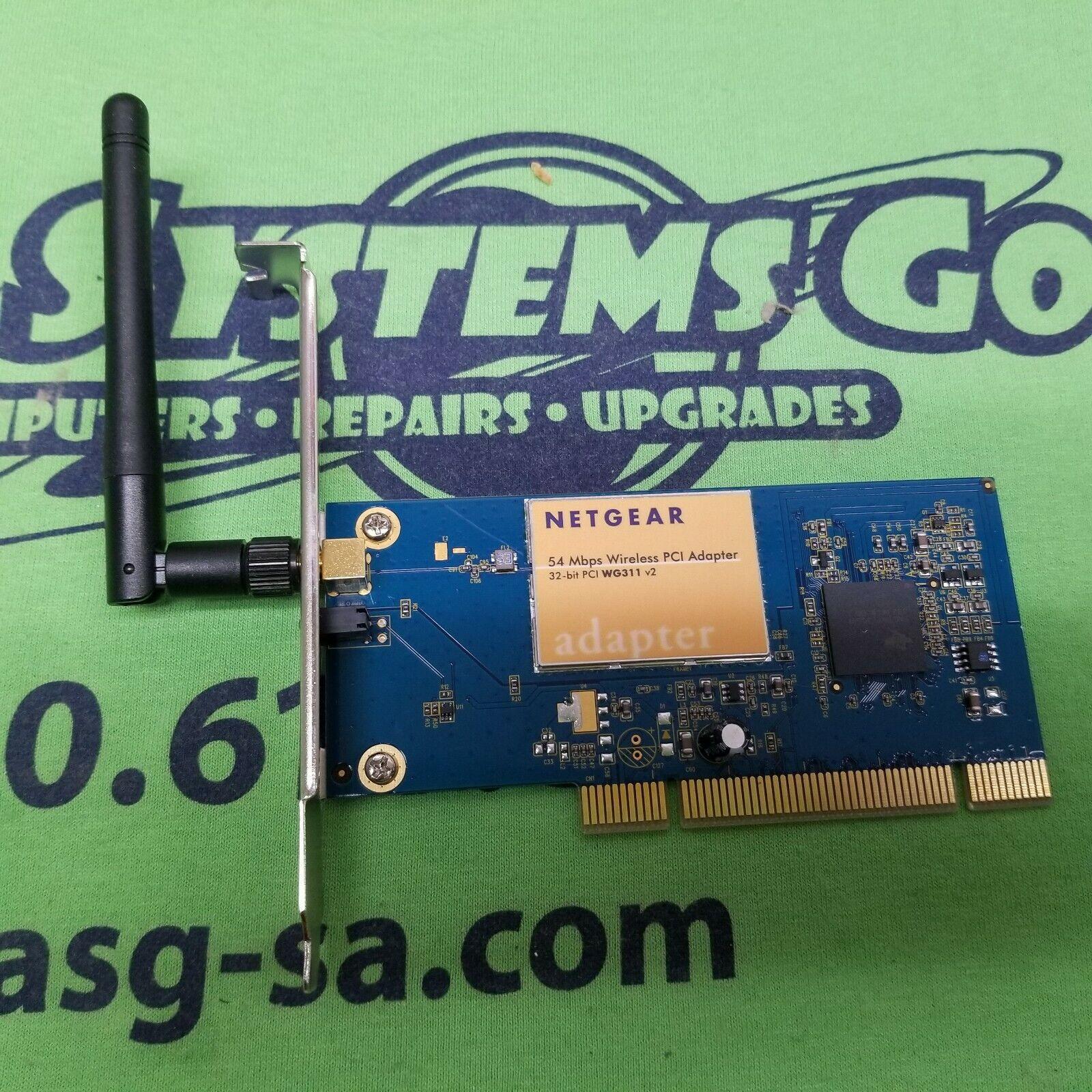 NETGEAR 54MBPS WIRELESS PCI ADAPTER 32-bit PCI WG311 v2
