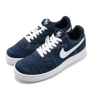Nike-Air-Force-1-Flyknit-2-0-Navy-White-Men-Casual-Shoes-Sneakers-AV3042-400