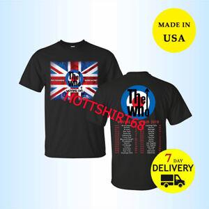 New-The-Who-Moving-On-Tour-Dates-2019-T-Shirt-Full-Size-Men-Black-Shirt-Tee