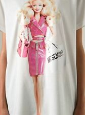 $375 MOSCHINO COUTRE X JEREMY SCOTT BARBIE BLONDE DOLL WEARING PINK T-SHIRT XS