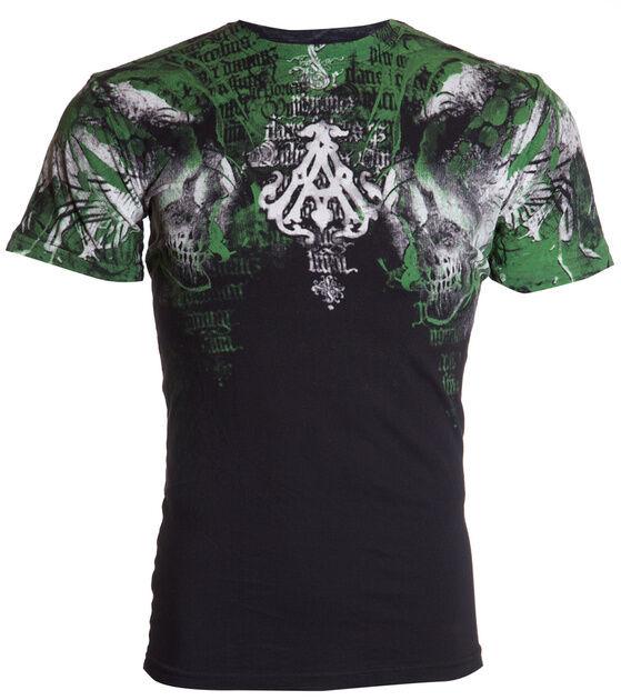 ARCHAIC by AFFLICTION Mens T-Shirt NIGHTCRAWLER Skulls Tattoo Biker MMA UFC $40
