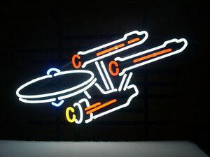 "New Star Trek Enterprise Space Ship Beer Neon Sign 17'x14"""