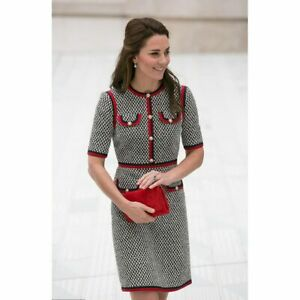 Kate-Middleton-Tweed-Dress-Vestidos-Thick-Thread-Houndstooth-Patchwork-Slimdress