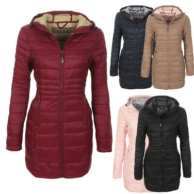 Geographical Norway Ladies Winter Jacket Coat Long Lightweight Parka New | eBay