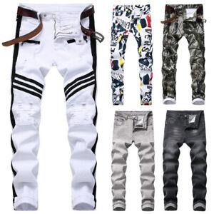 Men-Skinny-jeans-Ripped-Jeans-Floral-Pant-Casual-Pant-Denim-pant-Rip-Jeans-Slim