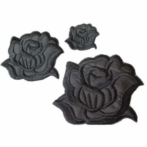 U-Sky Sew ou iron on patches-Rose Noire