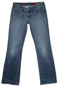 Express-X2-Womens-Jeans-Size-8-L-W10-Bootcut-Low-Rise-Stretch-Denim