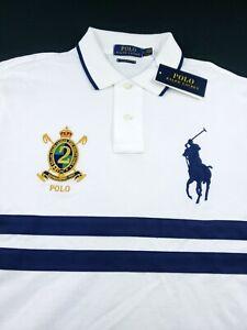 Polo Fit Embroidered Big Custom Short Shirt Lauren Ralph Pony Sleeve 5RLAjc34qS