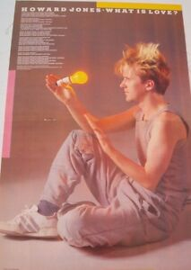 Details about HOWARD JONES 'What Is Love' lyrics Centerfold magazine POSTER  17x11 inches