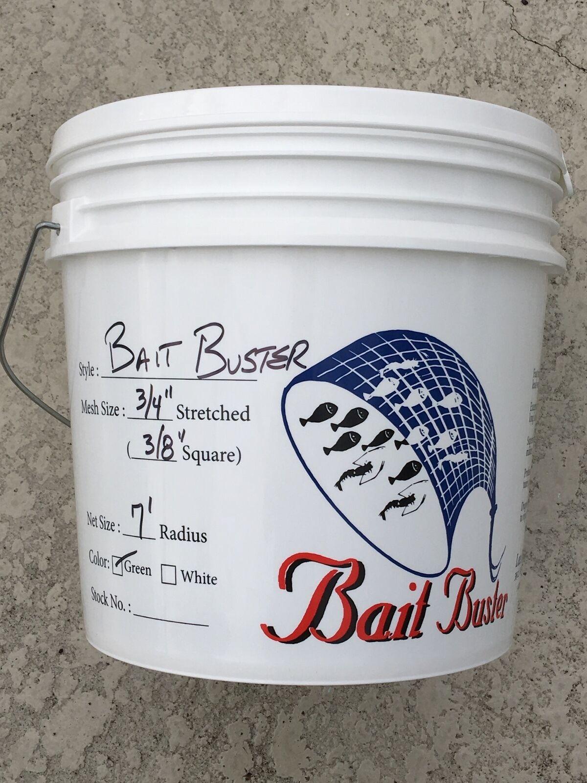 Bait Cast Nets ,Bait Buster Series, 38 square mesh, 7FT  RADIUS