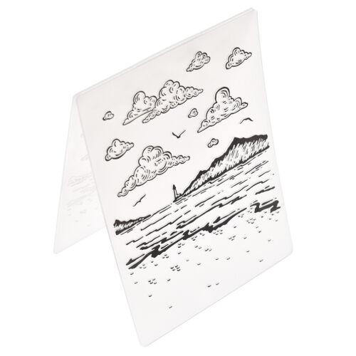 Kunststoff Prägefolder Schablone Vorlage DIY Karten Einklebebuch Crafts Supplies