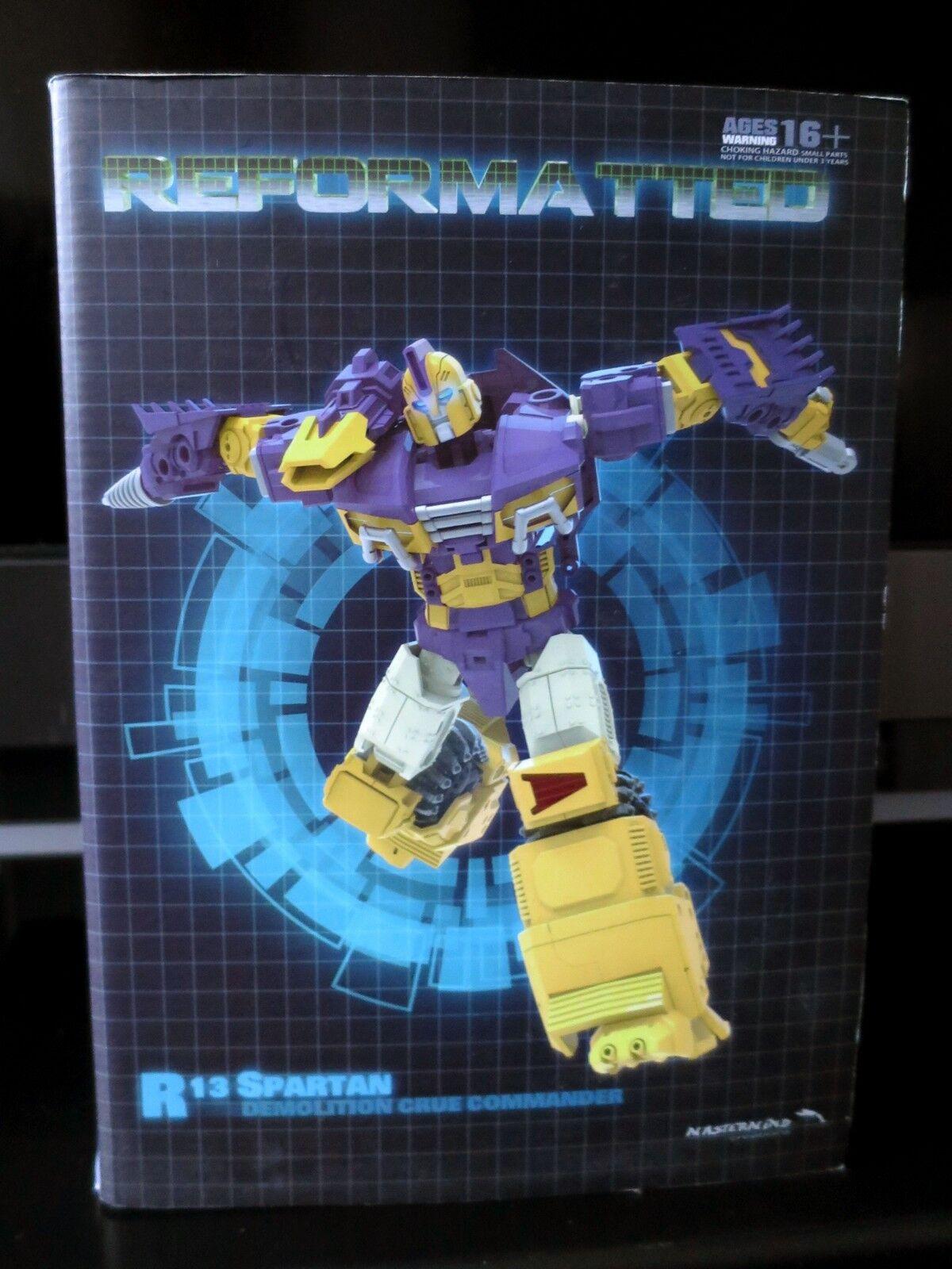 Transformers MASTERMIND CREATIONS R-13 Spartan también conocido como IDW grúa impactador sin usar y en caja sellada