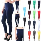 Seamless Basic PLAIN SOLID SPANDEX Leggings Pants Stretchy ONE SIZE